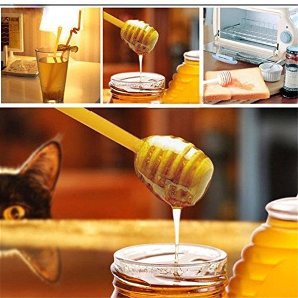 MIRUIKE - Palo de madera para cortar miel, bares, café, leche, té, té, jam Stir Bar para casa, fiesta, 10 unidades de 6,25 pulgadas: Amazon.es: Hogar