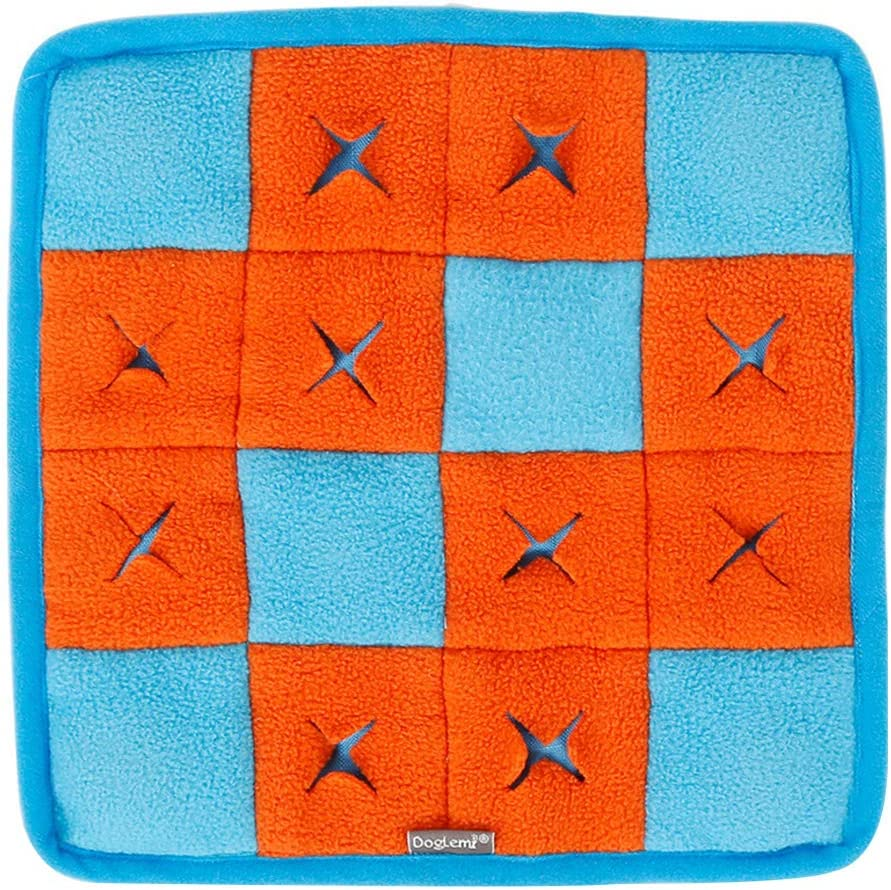 MOMU Nosework for Dogs, Pet Dog Sniffing Mat Find Food Training Blanket Play Dogs Rug Puzzle Toys