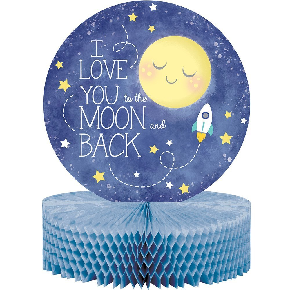 to The Moon and Back Party Supply Pack: Jointed Banner, Dizzy Danglers, and Centerpiece (Variety Pack Bundle) by Cedar Crate Market (Image #3)