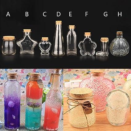 Amazon Com Samber Glass Wishing Bottle Diy Pendants Essential Oil