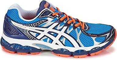 ASICS Asicsgel-Nimbus 16 - Zapatillas de Running Hombre, Hombre, Gel Nimbus 16, Blue/White/Black/Orange: Amazon.es: Ropa y accesorios