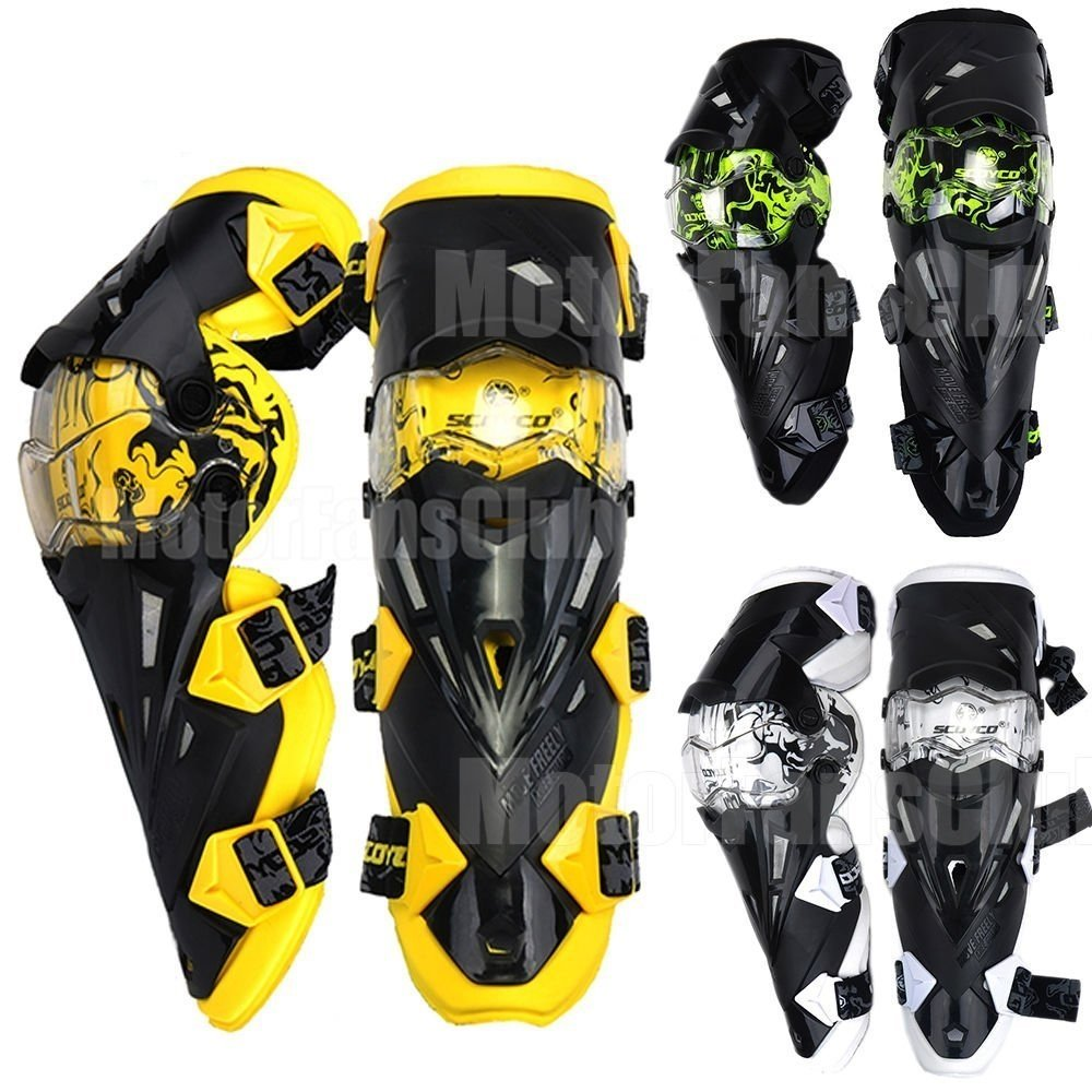 Crazy al de® cak12 (Pro) - Rodillera y Espinillera de la motocicleta ATV Motocross rodilleras alta calidad Deportes Scooter motor-racing Guardia de ...