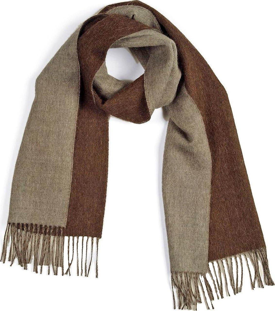 Alpaca Wool Scarf - 100% Pure Baby Alpaca - Double Sided Reversible Contrast Scarf Inca Fashions