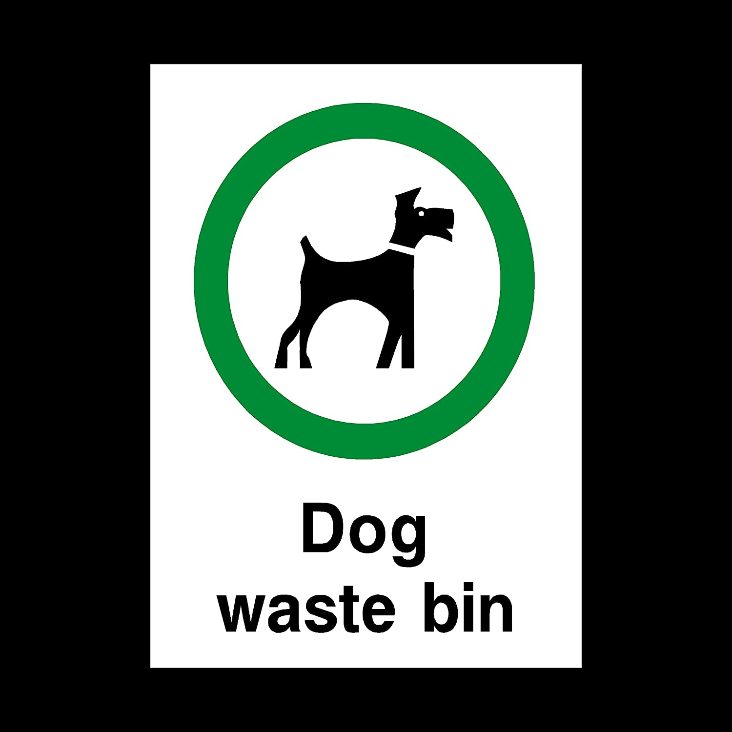 Fouling//Dog Area//Clean it up//Security Guard Dogs MISC60 Beware of the dog Sticker//Self Adhesive Sign
