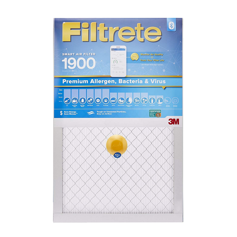 Filtrete MPR 1900 20x20x1 Smart Replenishable AC Furnace Air Filter, Premium Allergen, Bacteria & Virus, 2-Pack