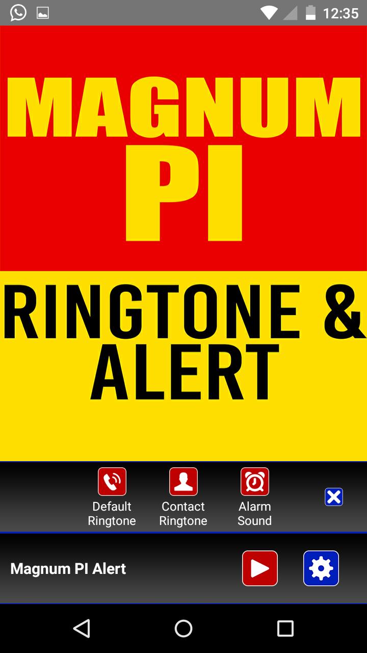 Magnum PI Theme Ringtone and Alert