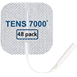 "TENS 7000 Official TENS Unit Pads - 48 Pack, Premium Quality OTC TENS Pads, 2"" X 2"" - Compatible with Most TENS Machines…"