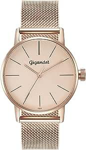 Gigandet Ladies Wrist Watch Movimiento de Cuarzo analógico con Brazalete de Acero Inoxidable G43-022