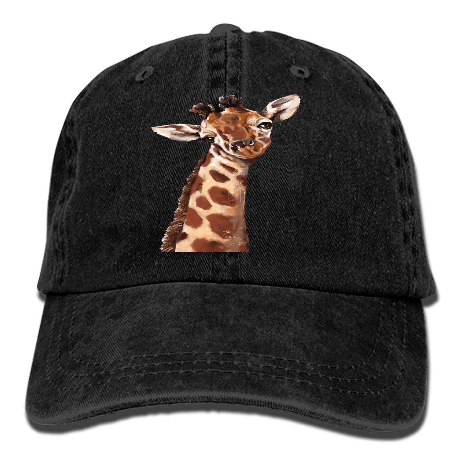 Dad Trucker Snapback Hat Custom Cartoon Giraffe Classic Cotton Adjustable Baseball Cap