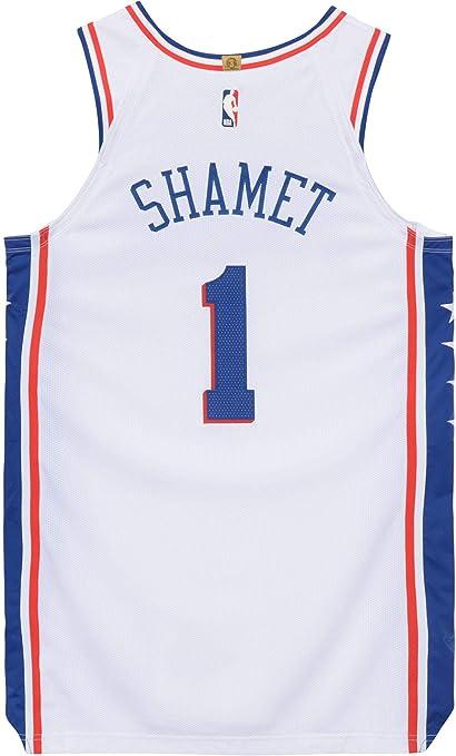 sale retailer 20920 f0a89 Landry Shamet Philadelphia 76ers Player-Issued #1 White ...