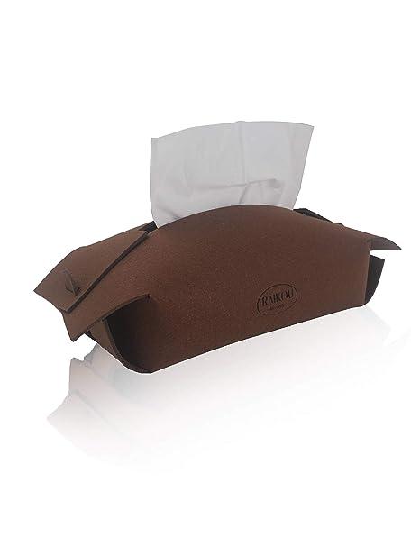 RAIKOU Fieltro pañuelos Caja Funda Toalla Caja Decorativa Kleenex Caja Resistente Funda dispensador de 100%