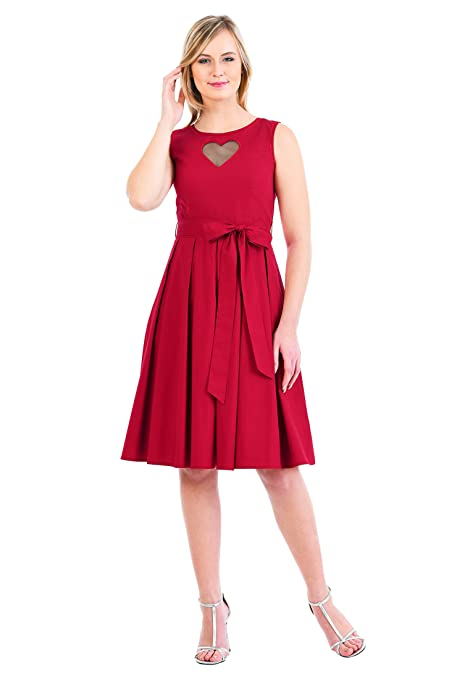 Valentines Day Dresses, Outfits, Lingerie | Red Dresses EShakti Womens  Heart Cutout Front Stretch