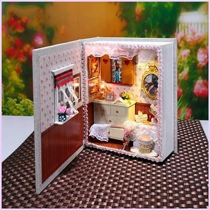Elegantstunning Dollhouse Miniature Diy Maison Livre Bois