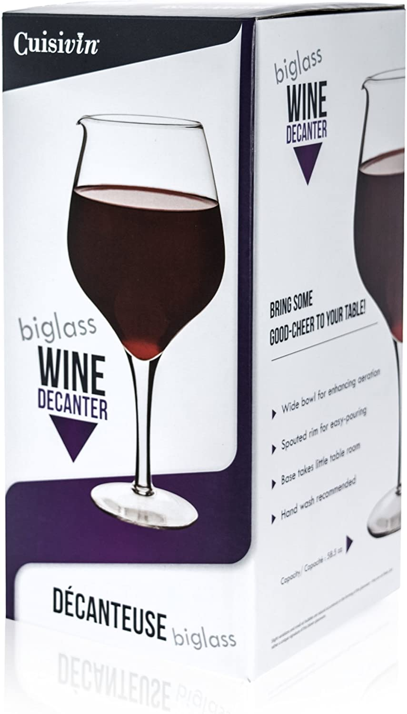 Amazon Com Cuisivin Biglass Wine Decanter 58oz Clear Wine Decanters