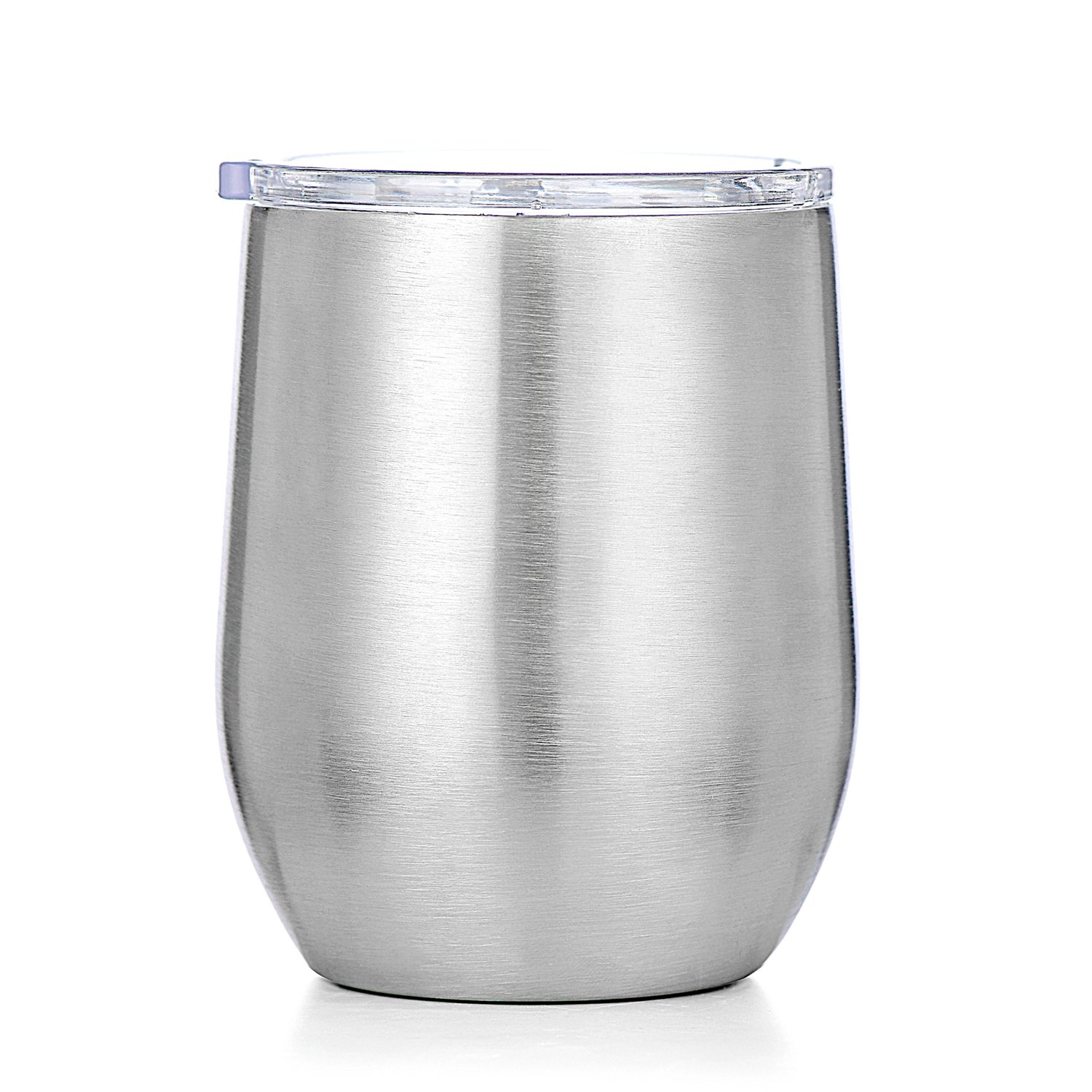 Amzyt Stainless Steel Stemless Wine Glasses Food Grade 18/8 Sippy Cup With Spill Proof Lid For Women Outdoor And Travel Whiskey Glass