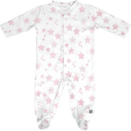 Minutus Pijama Largo 100% Algodón para Bebé 0/1 Mes - Colección Etoile (Color Rosa): Amazon.es: Ropa y accesorios