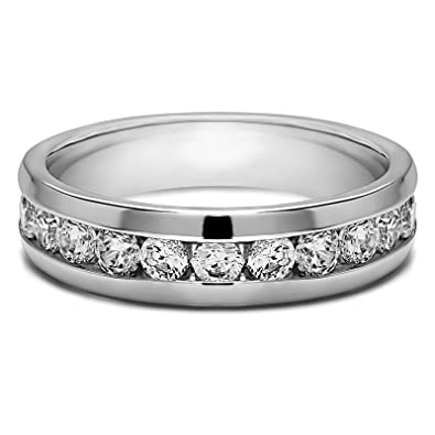 Men Diamond Ring 0.50 Ct Mens Ring Solid 14K White Gold Ring Mens Wedding  Ring ( f264a5960a