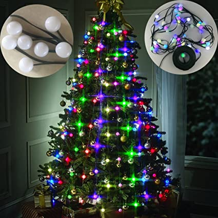 home soul christmas tree decor hanging led multi colored stackable lights