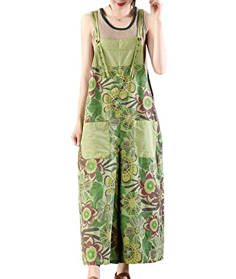 925af8b92ca Amazon.com  YESNO Women Casual Cropped Jeans Floral Overalls Jumpsuits  Pockets PM3  Clothing