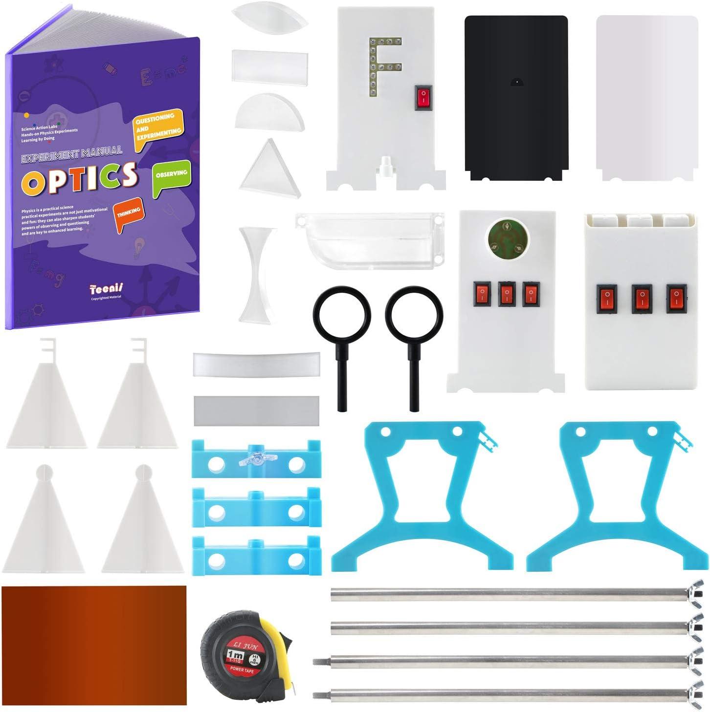 Teenii CTIM Laboratorio de Física Kit de Aprendizaje Básico de Óptica Experimento de Luz para niños Alumnos de Secundaria y Bachillerato