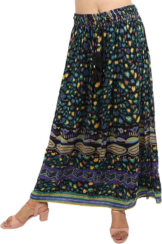 V-CAV Women Premium Cotton Long Skirt Full Length Casual wear Party