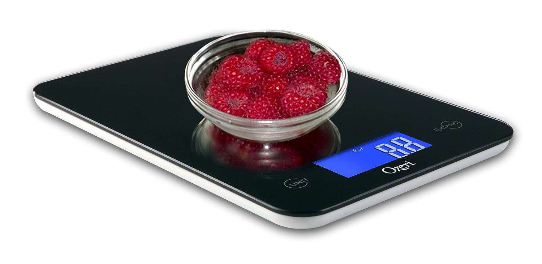 amazoncom ozeri touch professional digital kitchen scale in tempered glass 18 pound elegant black kitchen dining - Best Kitchen Scale