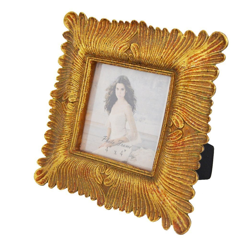 Gift Garden 4x4 Square Gold Picture Frame Vintage Frames 4 By 4