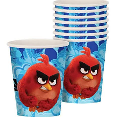 Amazoncom ANGRY BIRDS MOVIE 9oz PAPER CUPS 8 Birthday Party