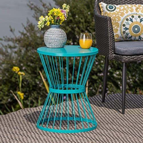 Christopher Knight Home Lassen Outdoor 16″ Iron Side Table