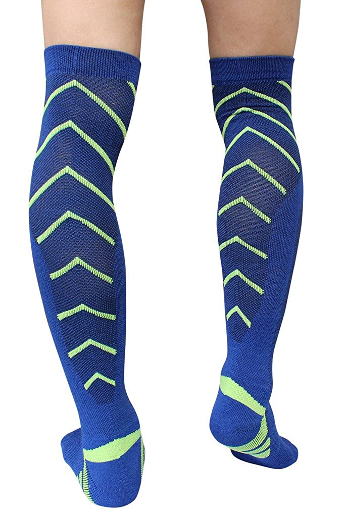 DZSbestdeal Unisex Over the Calf Athletic Soccer Football Socks  for sale