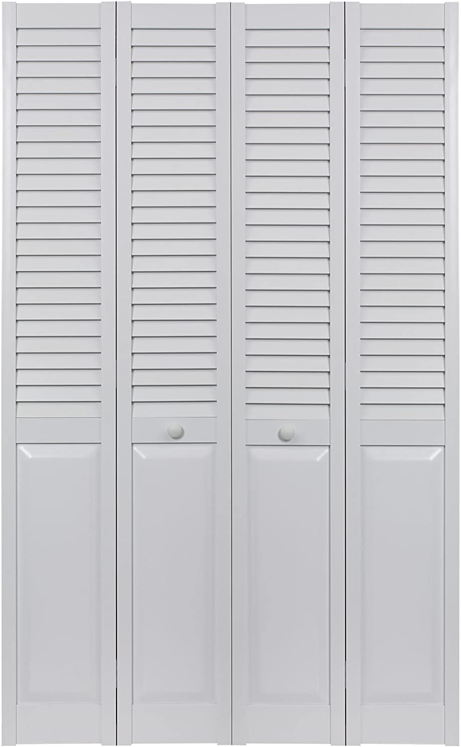 LTL Home Products SEALP60 Seabrooke PVC Louvered & Panel Interior Bifold Door (2 Pack), 78.625