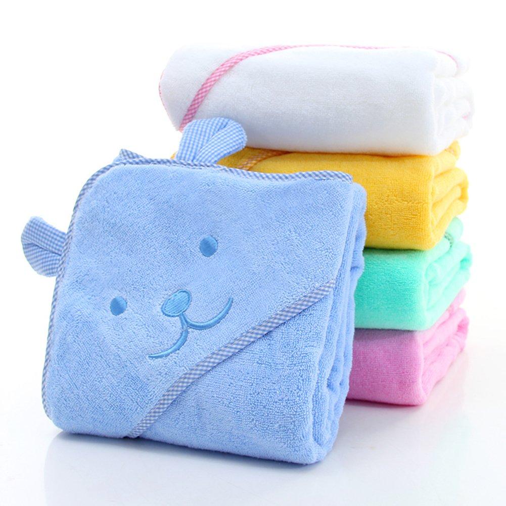 Mignon Coton Serviettes de bain enfants 0-7 Ans 39 x 39 B/éb/é /À Capuchon Serviettes et sorties de bain