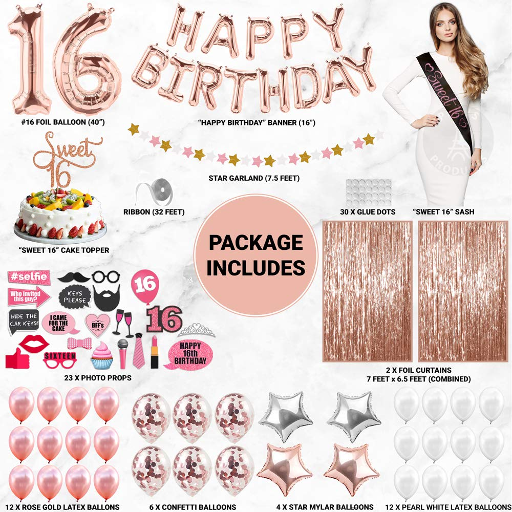Sweet 12 Party Supplies  12th Birthday Decorations   Rose gold ...