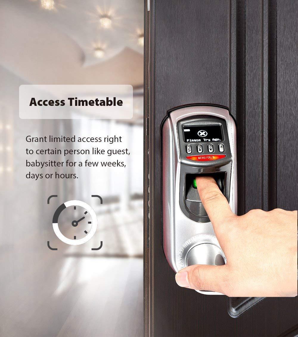 Manilla alemana biom/étrica e inteligente ZKTeco L7000S Cerradura de puerta con huella cerradura electr/ónica