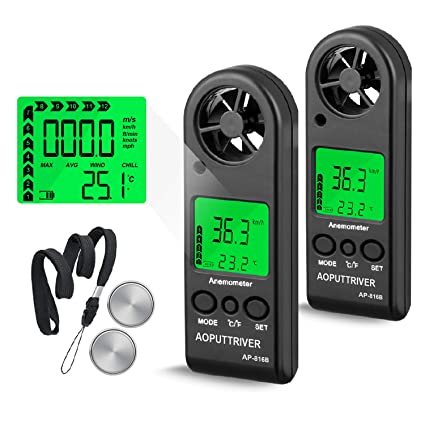 Amazon.com: Digital Anemometer Handheld Wind Speed Meter for ...