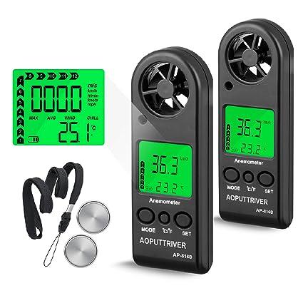 Amazon.com: Digital Anemometer Handheld Wind Speed Meter for ...
