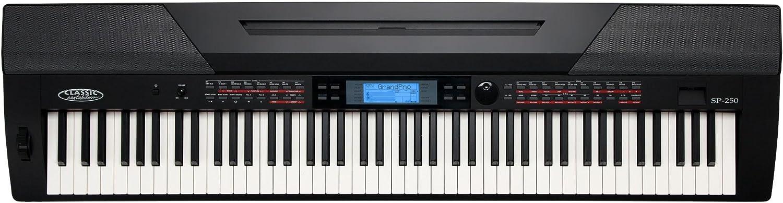 Classic Cantabile SP-250 piano de escenario en color negro