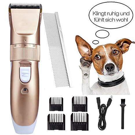 Kit De Recortador De Pelo para Mascotas, Máquina De Corte De Perro Silencioso E Inalámbrico