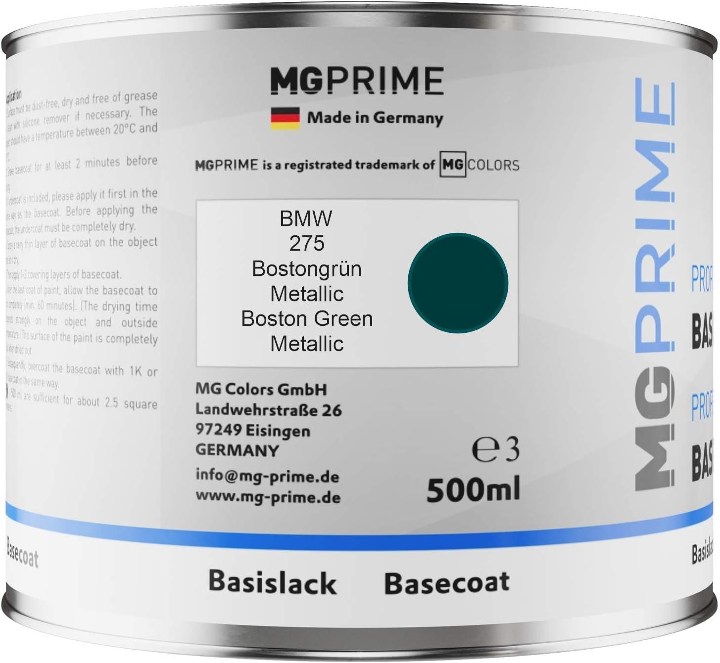 Mg Prime Autolack Dose Spritzfertig Für Bmw 275 Bostongrün Metallic Boston Green Metallic Basislack 0 5 Liter 500ml Auto