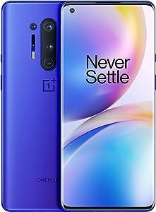 OnePlus 8 Pro (5G) Dual-SIM IN2023 256GB/12GB RAM (GSM + CDMA) Factory Unlocked Android Smartphone (Ultramarine Blue)- International Version