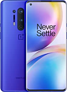 "OnePlus 8 Pro - Teléfono 6.78"" Pantalla Fluid AMOLED 3D a 120Hz, 12GB de RAM + 256GB de Almacenamiento, Quad Cámara, Carga Rápida Inalámbrica, Dual Sim, 5G, 2 Años de Garantía, color Azul Ultramarino"