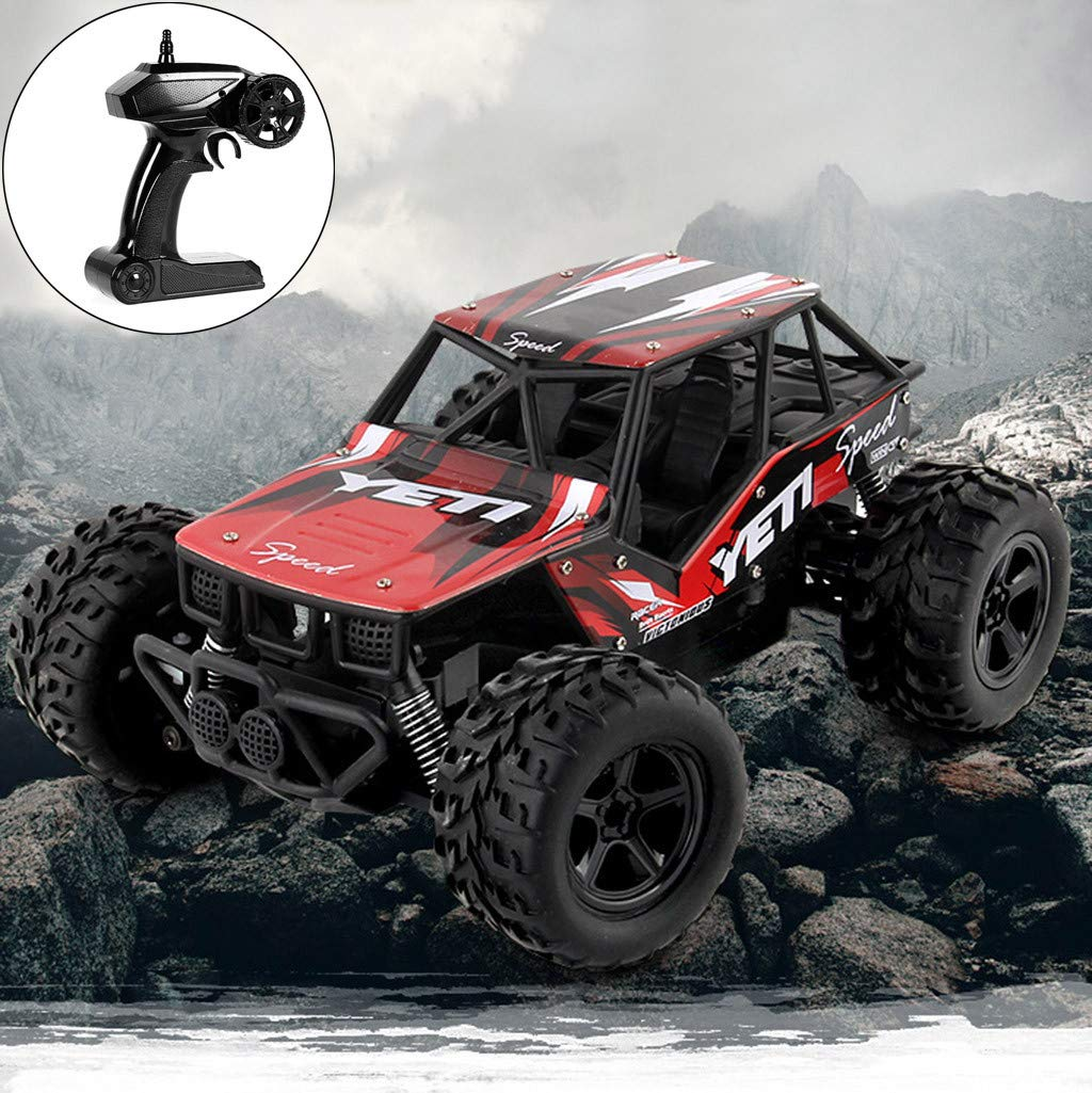 RC Car Remote Control Off-Road Monster Truck 2WD 2.4Ghz 1:20 High Speed RTR Climbing RC Racing Car Toy for Kids Adults Race Buggy with Batteries Birthday Gift
