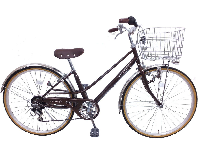 セントルイス シマノ6段変速 ブロックライト 子供用自転車 B01I34S6OGブラウン 26インチ