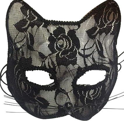 Women Black Fox Halloween Eye Soft Lace Mask Goth Fancy Dress Costume Ball Party