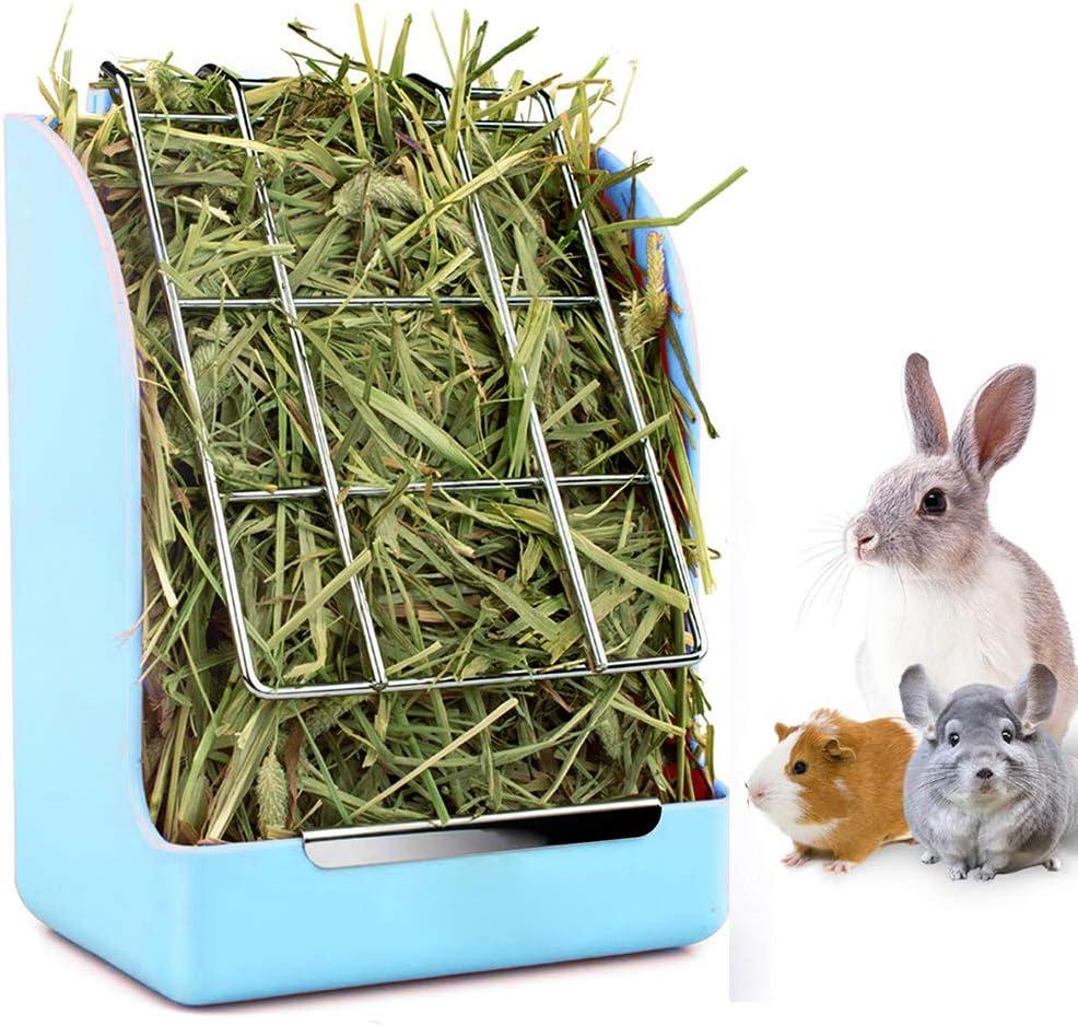 comedero de plastico cobayos hamsters conejos pasto azul