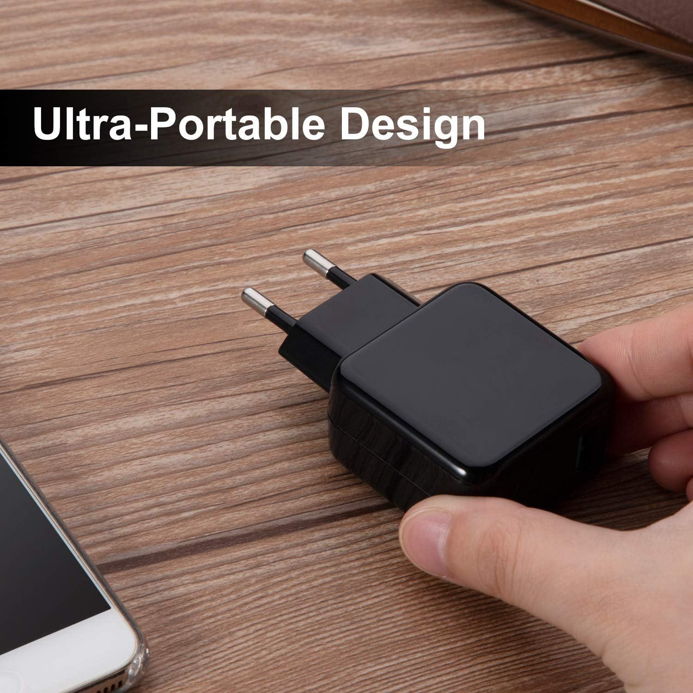con Cable de 1 Metro Tipo C, Negro Cargador de Viaje Enchufe Carga R/ápida para Xiaomi Pocophone F1 Mi A2 Mi 5//8//9 Pro Mix 3 A1 Samsung S10 S9 S8 UrbanX 18W Cargador USB Quick Charge 3.0