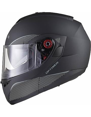 aff39cc8 Black Optimus SV Max Vision Flip Front Motorcycle Helmet