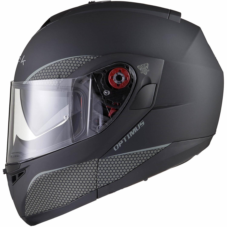 Black Noir Optimus SV Max Vision Flip Avant pour Casque de Moto