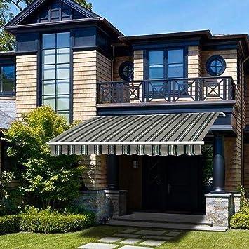 Green Bay - Toldo retráctil manual de 4 x 3m para jardín o terraza ...