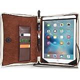Alienwork Schutzhülle für iPad Air 1/2 Ständer Hülle Case Tasche Etui Sleeve vintage Leder braun AD5212-01